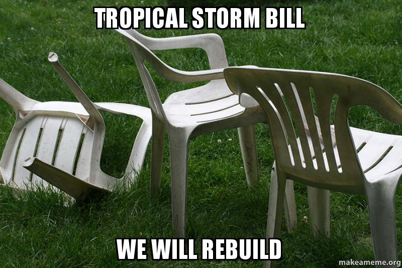 Image result for tropical storm bill we will rebuilt