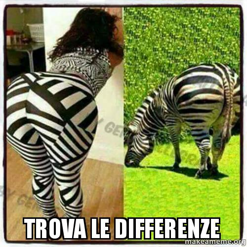 trova le differenze - | Make a Meme