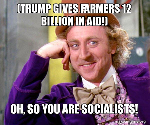 Image result for trump is a socialist meme