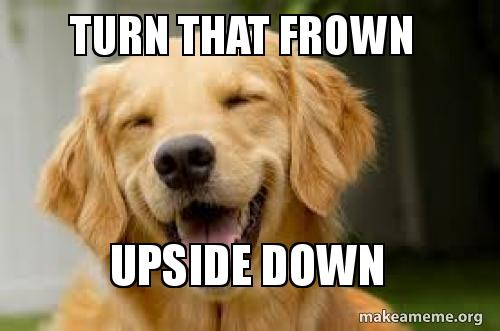 Turn that frown Upside down | Make a Meme, Reset