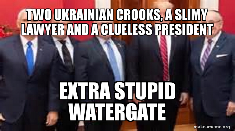 two ukrainian crooks, a slimy lawyer and a clueless president ...