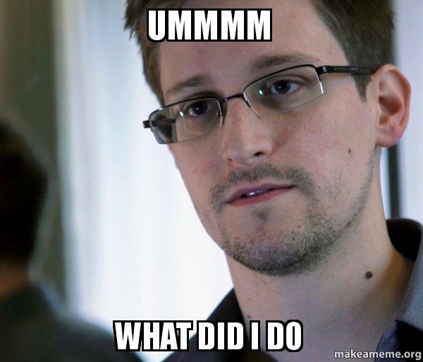 Edward Snowden (NSA Whistle Blower) meme