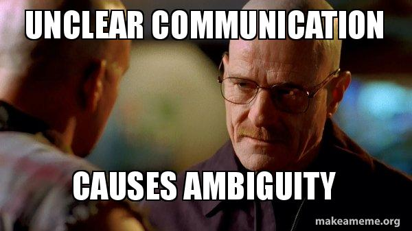 communication ambiguity The way we handle uncertainty is known as ambiguity tolerance, and it has important implications for communication high ambiguity- tolerant cultures do not avoid uncertainty and see it as a.