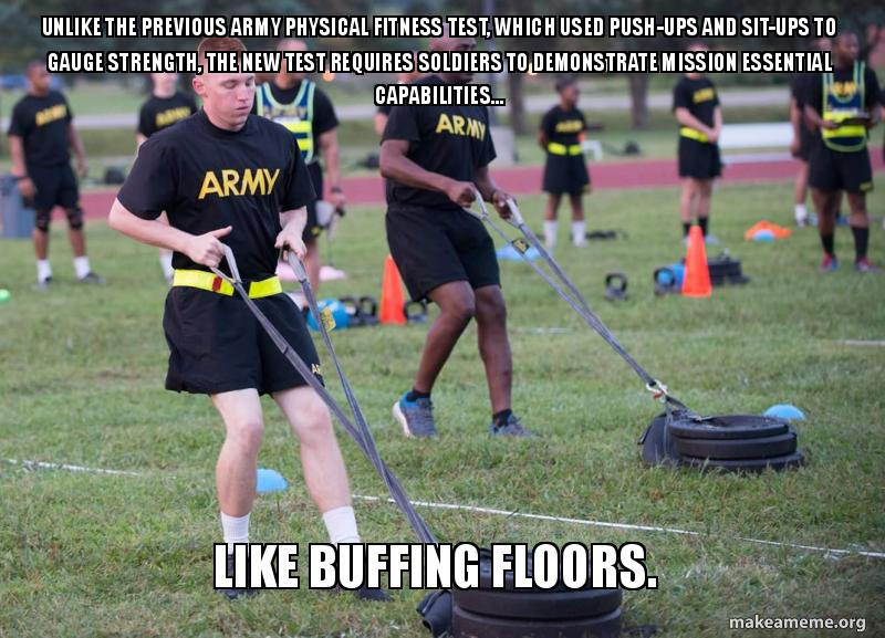 Unlike the previous Army Physical Fitness Test, which used
