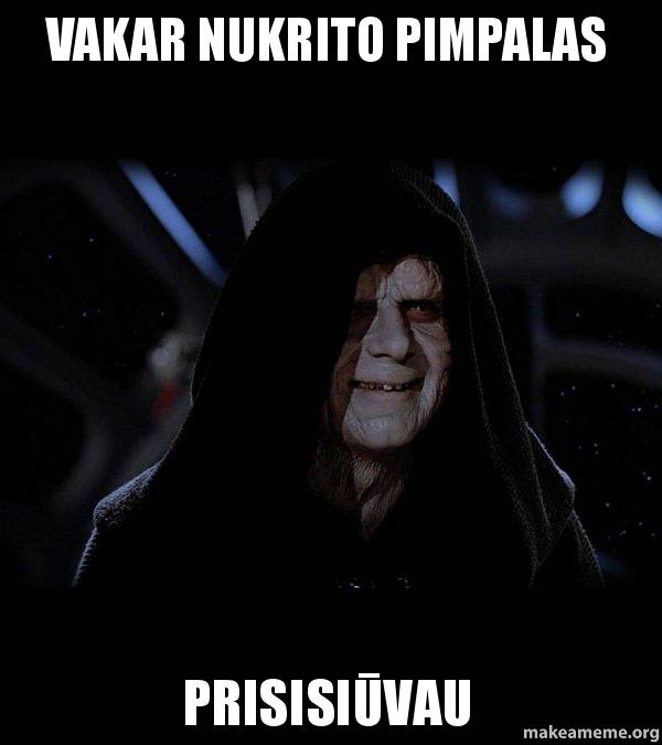 Make Your Own >> Vakar nukrito pimpalas Prisisiūvau - Sith Lord | Make a Meme