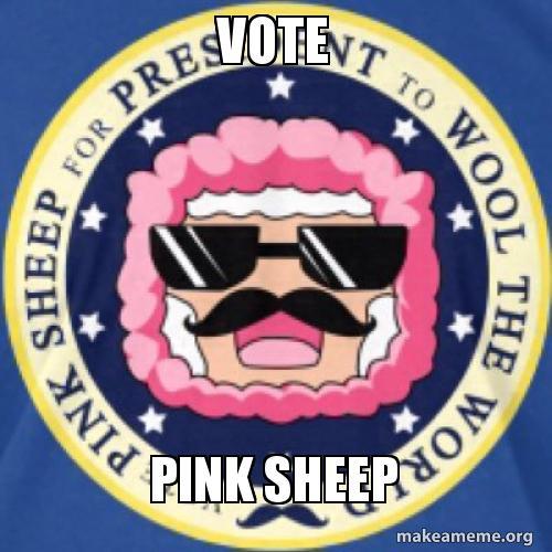 Vote Pink Sheep Make A Meme