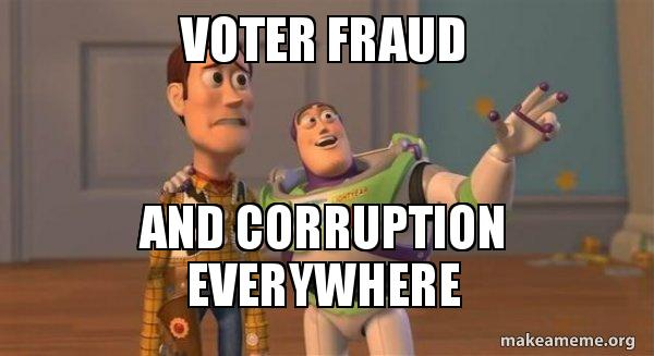 voter fraud and gj9ir9 voter fraud and corruption everywhere buzz and woody (toy story