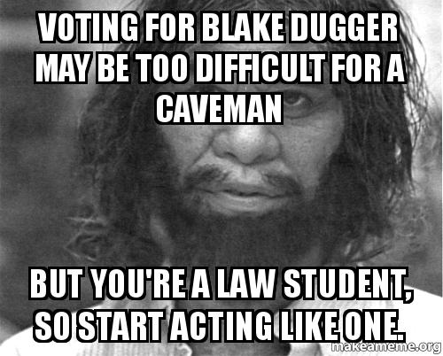 You Know You Are A Law Student When Voting for Blak...