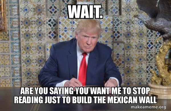 Donald Trump Writing Speech meme