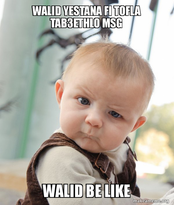 Skeptical Baby meme