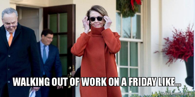 Walking out of work meme