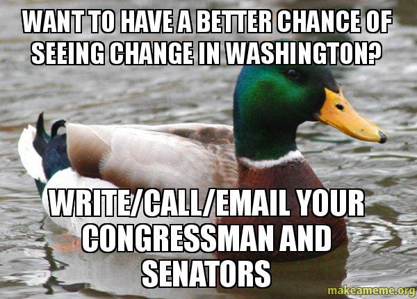 writing your congressman