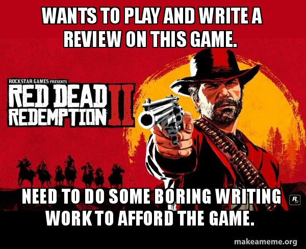 Wants to play and write a review on this game  Need to do