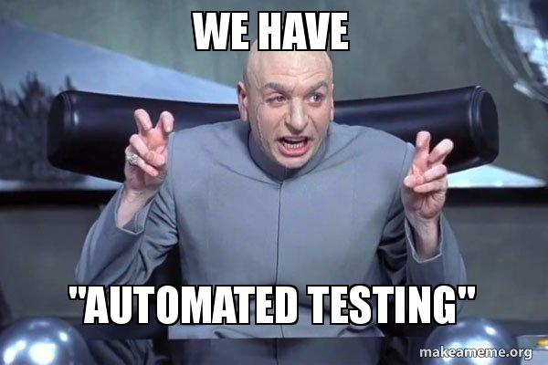we have automated we have \