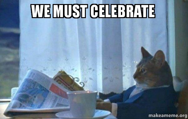 Image result for cat celebrating meme