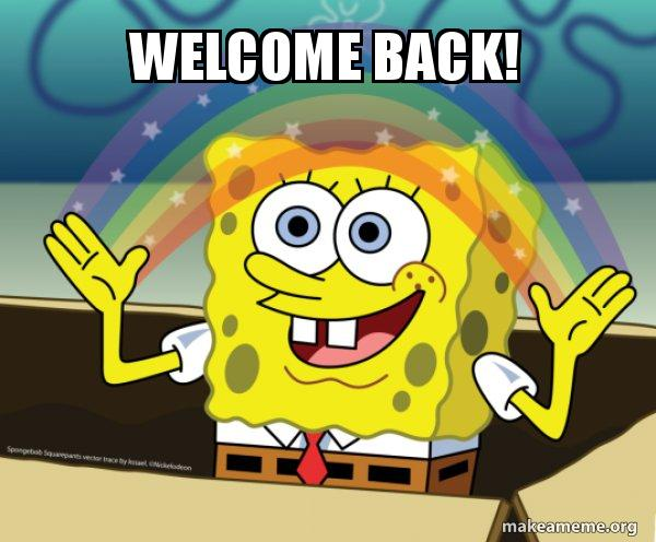 Welcome Back Rainbow Spongbob Make A Meme