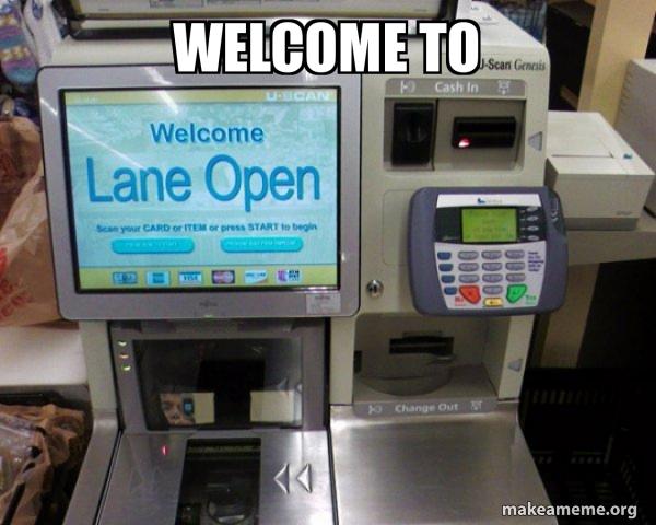 Self Checkout Machine meme