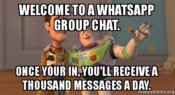 Welcome to a WhatsApp group chat  Once your in, you'll receive a