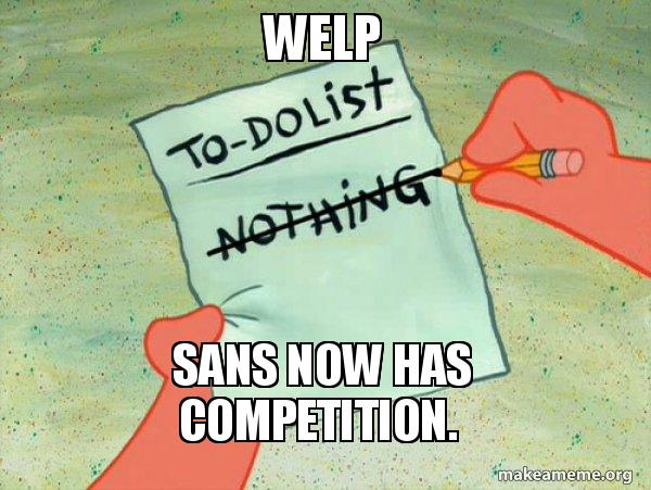 welp sans now has competition  - TO-DO List | Make a Meme