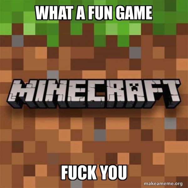 Minecraft meme