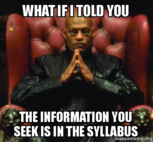 Image result for syllabus meme