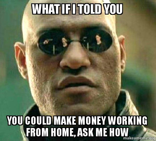 what if i hv04fo what if i told you you could make money working from home, ask me