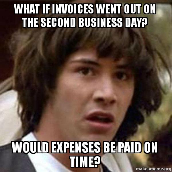 What If Invoices Went Out On The Second Business Day Would