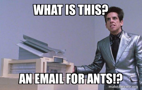 Center for Ants (Zoolander) meme
