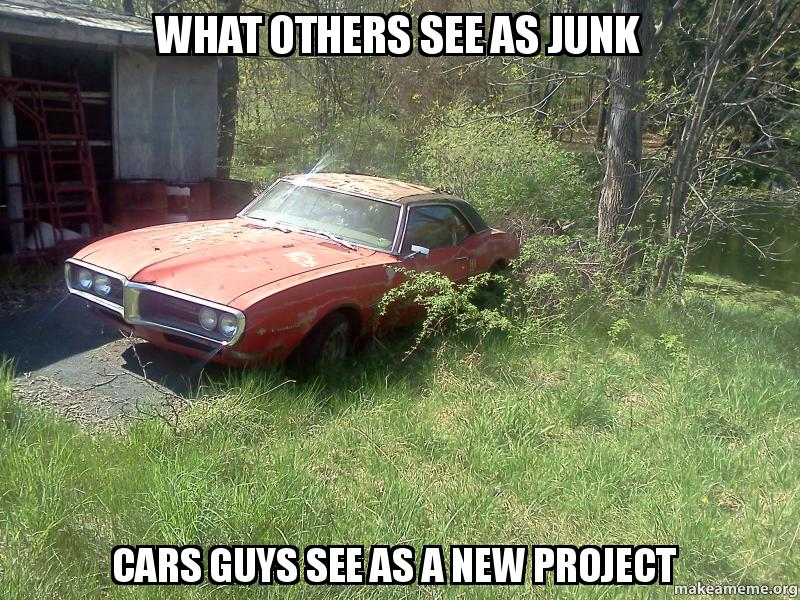 What Others See As Junk Cars Guys See As A New Project