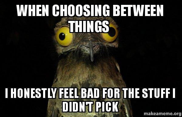 Weird Stuff I do Potoo meme