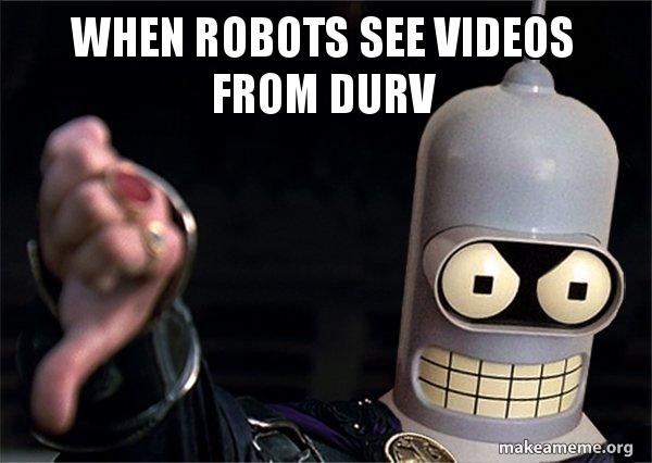 Downvoting Robot meme