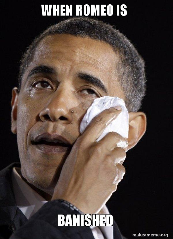 Romeos crying