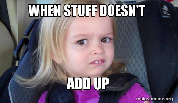 When stuff doesn't ADD UP - Side-Eyes Chloe | Make a Meme