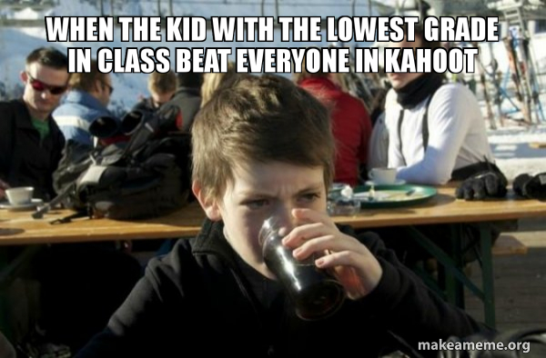 Lazy Elementary School Kid meme