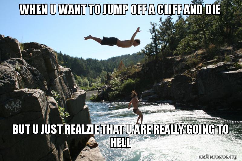 Offacliff Jump GIF - Offacliff Jump Off - Discover & Share ... |Cliff Jump Meme
