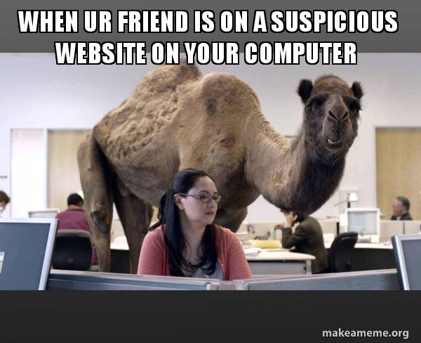 when ur friend ahdw28 when ur friend is on a suspicious website on your computer hump,How To Make A Meme Website