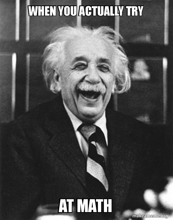 Laughing Albert Einstein meme
