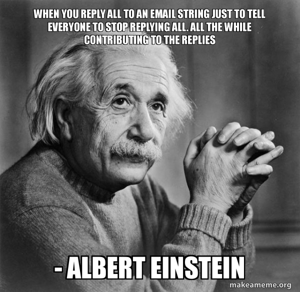 Serious Albert Einstein meme