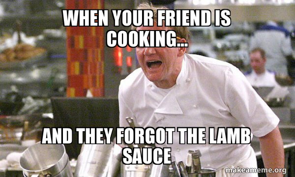 Gordon Ramsay Hell's Kitchen meme