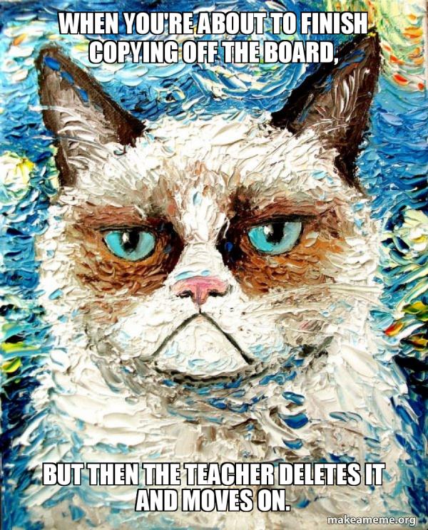 Vincent Van No - Grumpy Cat meme