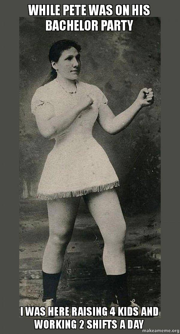 Overly Manly Woman meme
