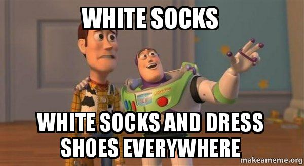 ... dress shoes everywhere - Buzz and Woody (Toy Story) Meme | Make a Meme