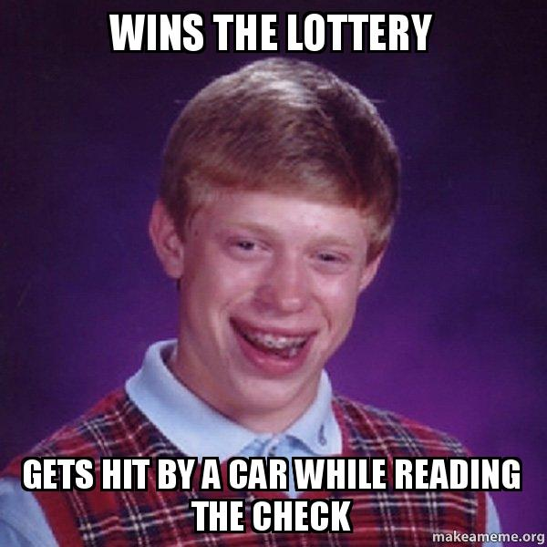 Wins The Lottery Gets Hit By A Car While Reading The Check