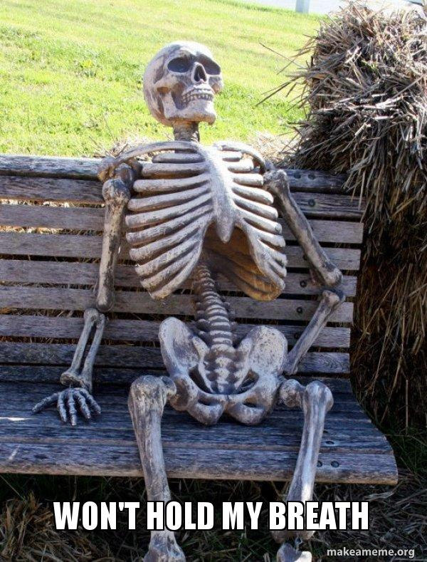 Waiting Skeleton meme