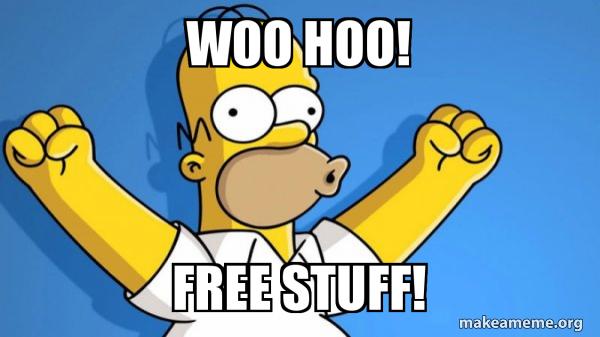 Woo hoo! Free stuf!