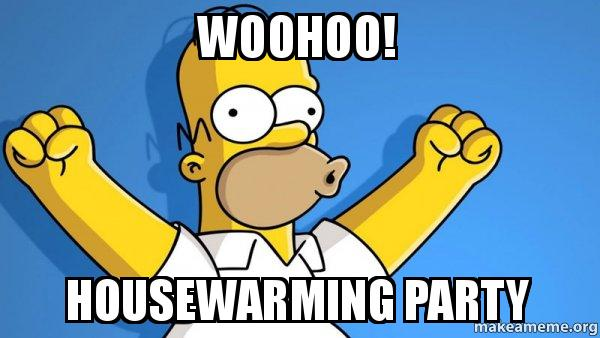 Woohoo Housewarming Party Happy Homer Make A Meme