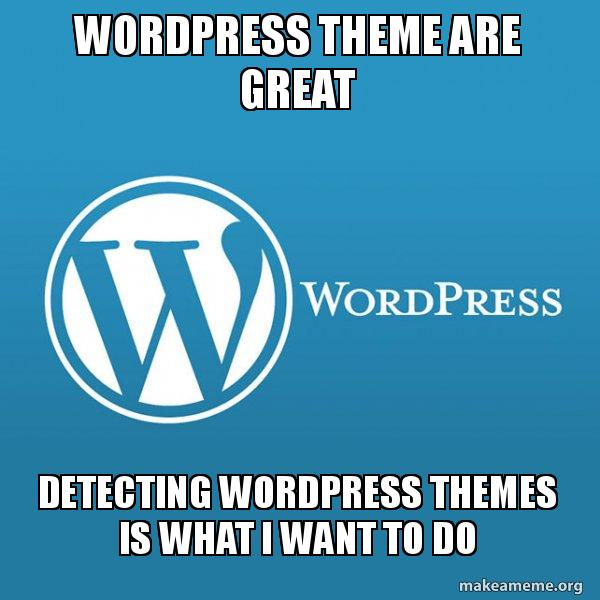 Wordpress Theme meme