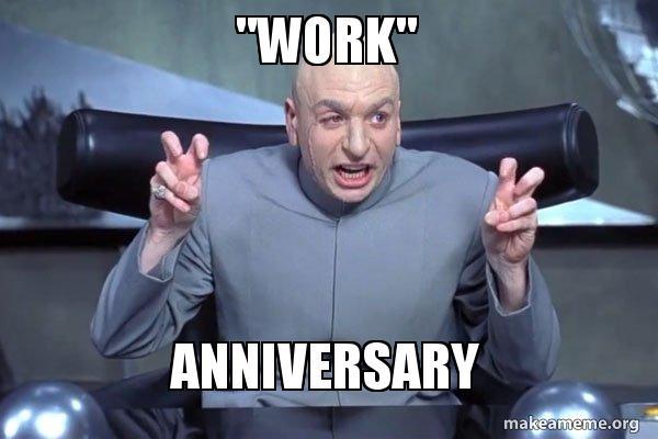 Nicole happy work anniversary meme