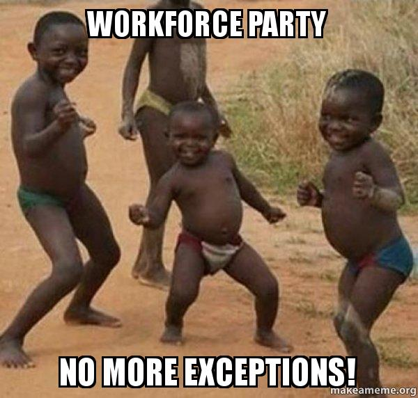 Funny Dance Birthday Meme : Workforce party no more exceptions dancing black kids