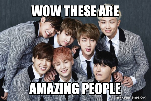 K-Pop Band BTS (Bangtan Boys) meme